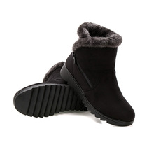 New Fashion Winter Women Non Slip Boots Shoes Ankle Boots 2018 Woman Casual Flat with Keep Warm Snow Boots
