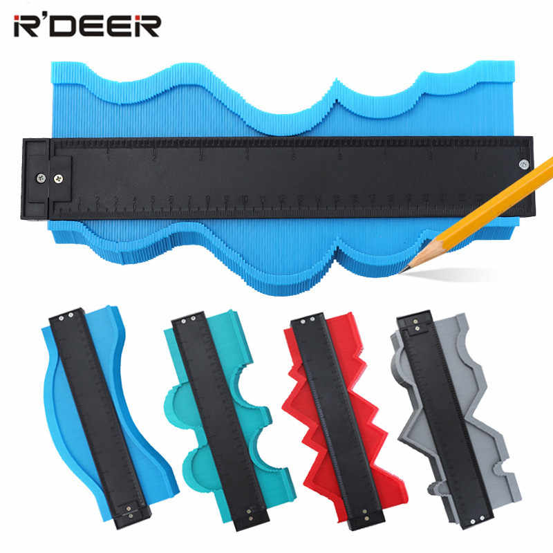 Profile Gauge 5/10/20'' Contour Gauge Duplicator Plastic Inch Metric Profile Ruler For Copying Irregular Shape Wood Marking Tool