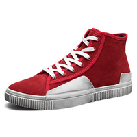 2018 Mens Breathable Skateboarding Shoes Light Weight Outdoor Sport Shoes Travel Shoes Grey Black Red For