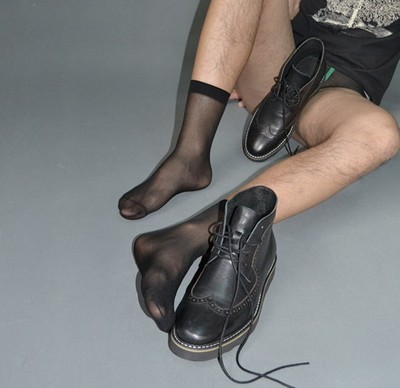 Men's Business Brief Paragraph Filar Socks Thin Silk Stockings Air Suction Male Silk Stockings