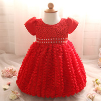 Cute Flower Infant Baby Girl Dresses Party And Wedding Baby Clothes Christening Gown Princess Toddler Girl
