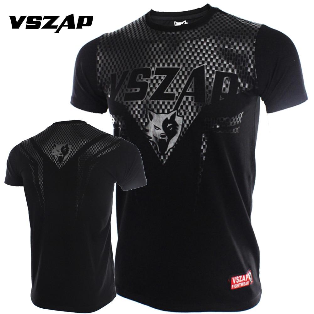 Jackets Sports Clothing Constructive Vszap Boxing Mma Shirt Gym Jerseys Short Sleeve Combat Arts Fitness Clothes Wulin Wind Movement Muscle Muay Thai Shirt Men Big Clearance Sale