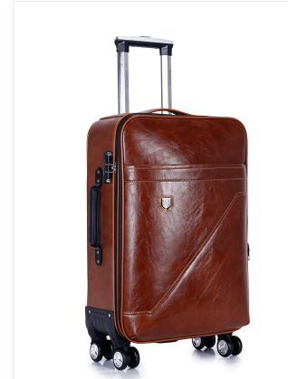 PU Rolling Bagage Koffer Cabine Business Travel trolley tassen voor mannen Bagage Koffer tas wielen Spinner koffer Wielen zakken-in Rij bagage van Bagage & Tassen op  Groep 2
