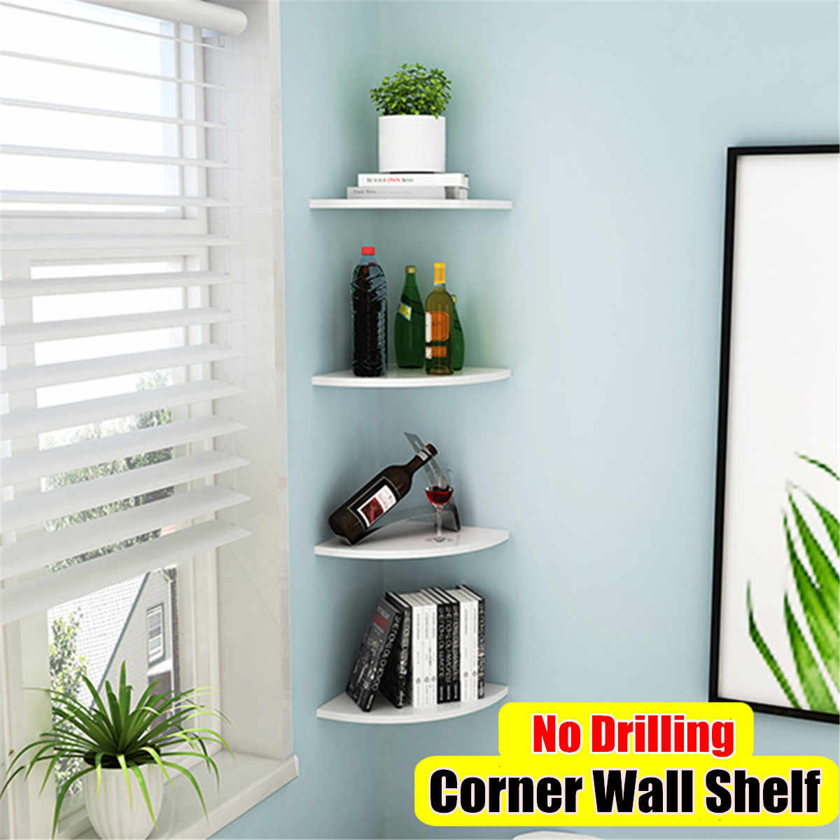 1 Pc Storage Rack Decorative Creative Wall Mounted Wooden