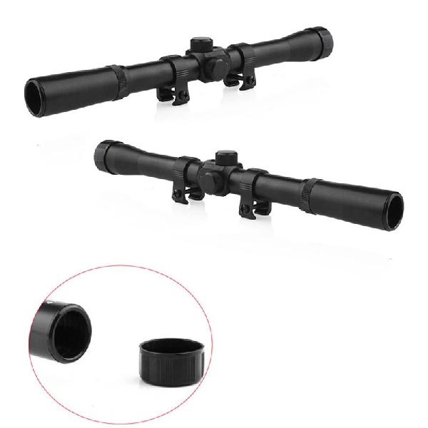 Mounchain 4x Telescopic Scope Sights Monocular Hunting Riflescopes 4x20 Air Riflescope For 22 Caliber Rifles 0.75 Inch Scope Tub