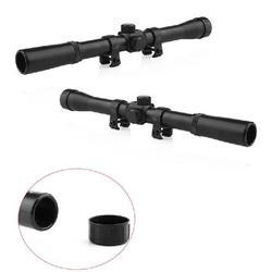 Mounchain 4x lunette de visée télescopique lunette de chasse monoculaire 4x20 lunette de visée pneumatique pour 22 fusils de calibre 0.75 pouces