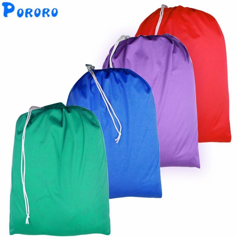 10 UNIDS Pail Liner Impermeable Bolsas de pañales de tela Impermeable Pail Liner Reutilizable Mojado Seco Bolsas Bolsa de pañales 50x60 cm