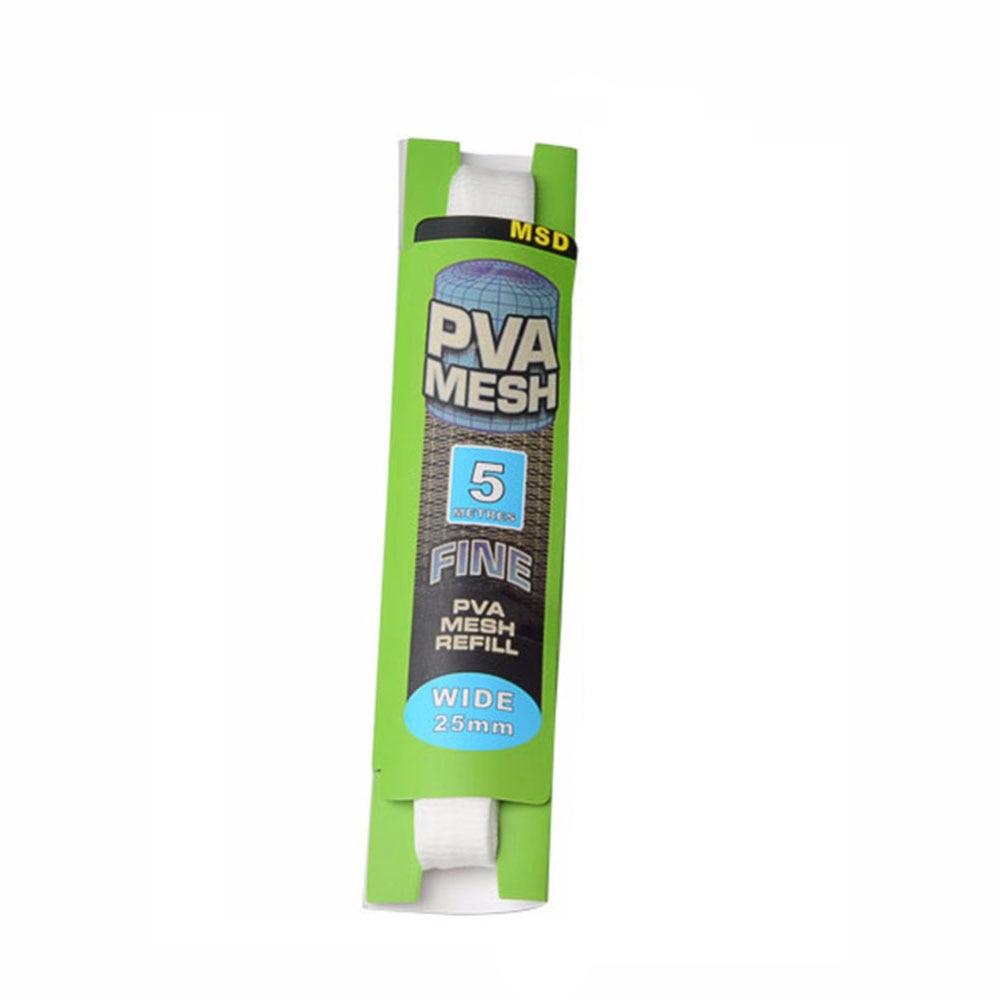 5M PVA 25mm Mesh Refill Karpfenangeln Strumpf Boilie Rig Köder Wrap Taschen ZY