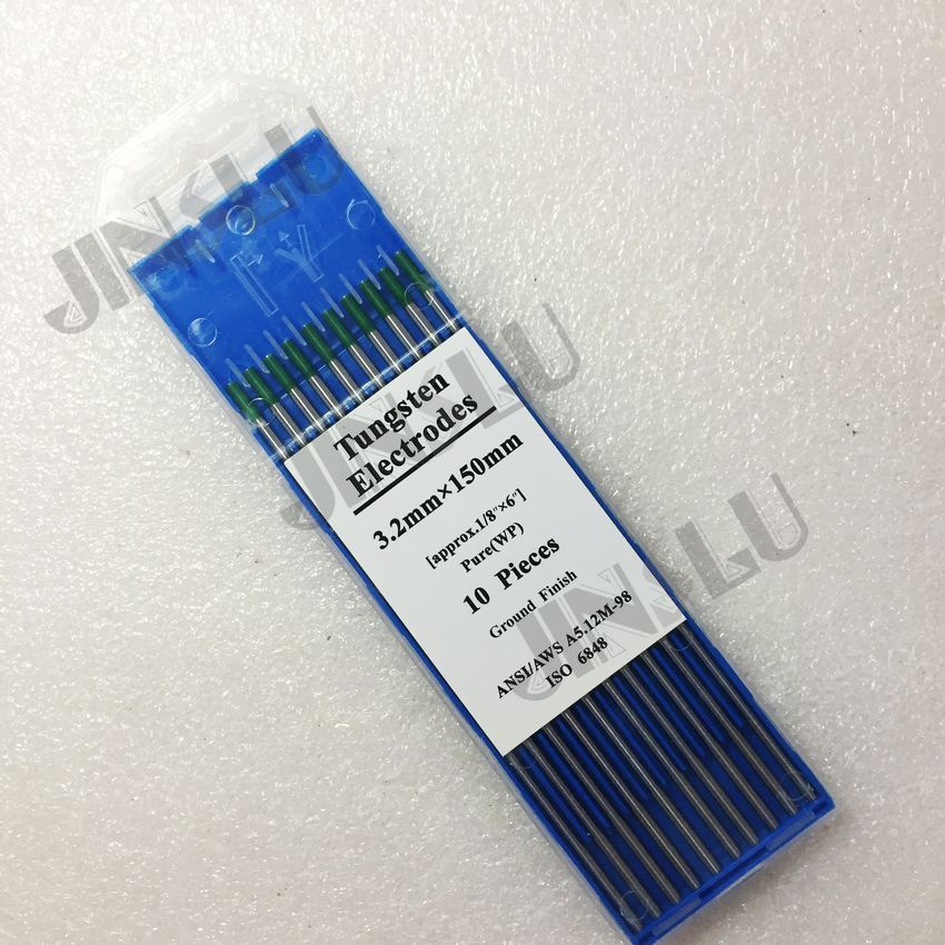 Freundschaftlich Kostenloser Versand Grün Spitze Reine Wolfram Elektrode 3,2*150mm 1/8 x6 X10pk Und Verdauung Hilft Werkzeuge