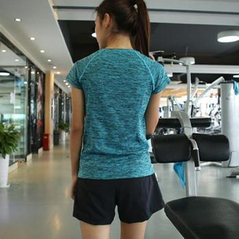 Siłownia kobiety koszulki sportowe koszulki treningowe bieganie t-shirt koszulka do jogi przestrzeń barwnik ćwiczenia odzież fitness koszulki tanie i dobre opinie LCOCO DREAM WOMEN NYLON spandex Krótki Anty-pilling Anti-shrink Przeciwzmarszczkowy Oddychające Szybkie suche Pasuje prawda na wymiar weź swój normalny rozmiar