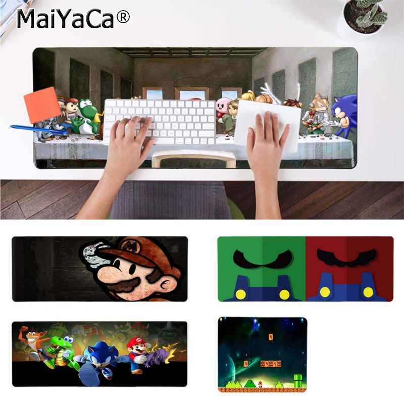 MaiYaCa Top Quality mario Computer Gaming Mousemats Durable Rubber Mouse Mat Pad