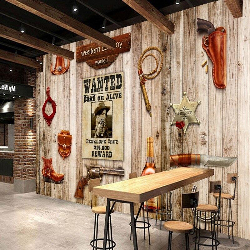 3d5739a66 Niestandardowe fototapeta 3D stereo tapety zachodniej cowboy tablica  ścienna amerykański styl niestandardowe tapety salon mural w Niestandardowe  fototapeta ...