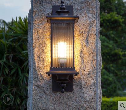 porta de entrada simples lampada de parede impermeavel ao ar livre lampada do jardim terraco ao