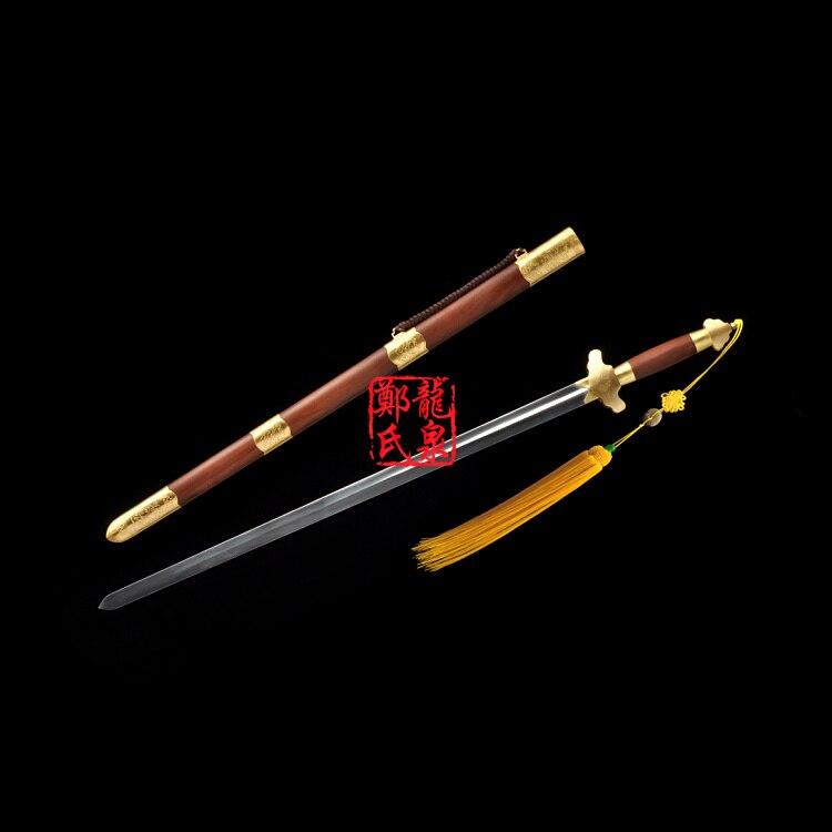 Épée chinoise lame Flexible en acier inoxydable épées droites pour la pratique de l'art Martial Kongfu outils raccords en laiton Taiji Jian