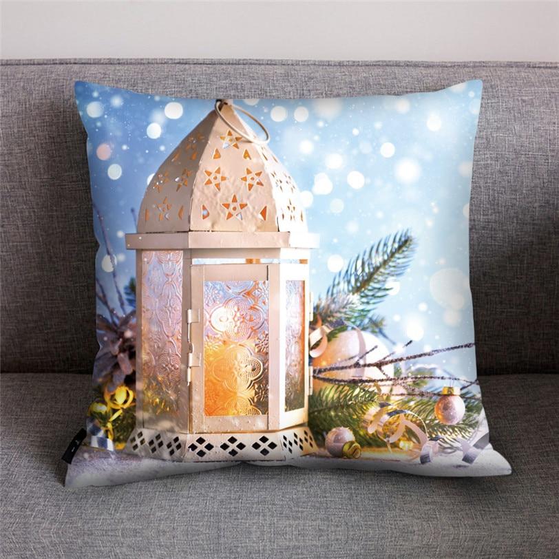 Tenske 4pcs/set 3d Print Christmas Cushion Cover 45cm*45cm Festive Pillowcase For Office Home Bed Sofa Seat Case 8s19 Cushion Cover