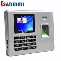 Danmini A3 sliver fingerprint reader biometric door lock with thumbprint scanner DC 5V/1A color TFT fingerprint sensor for PC