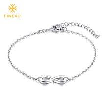 FINE4U B015 Infinity Bracelet For Women