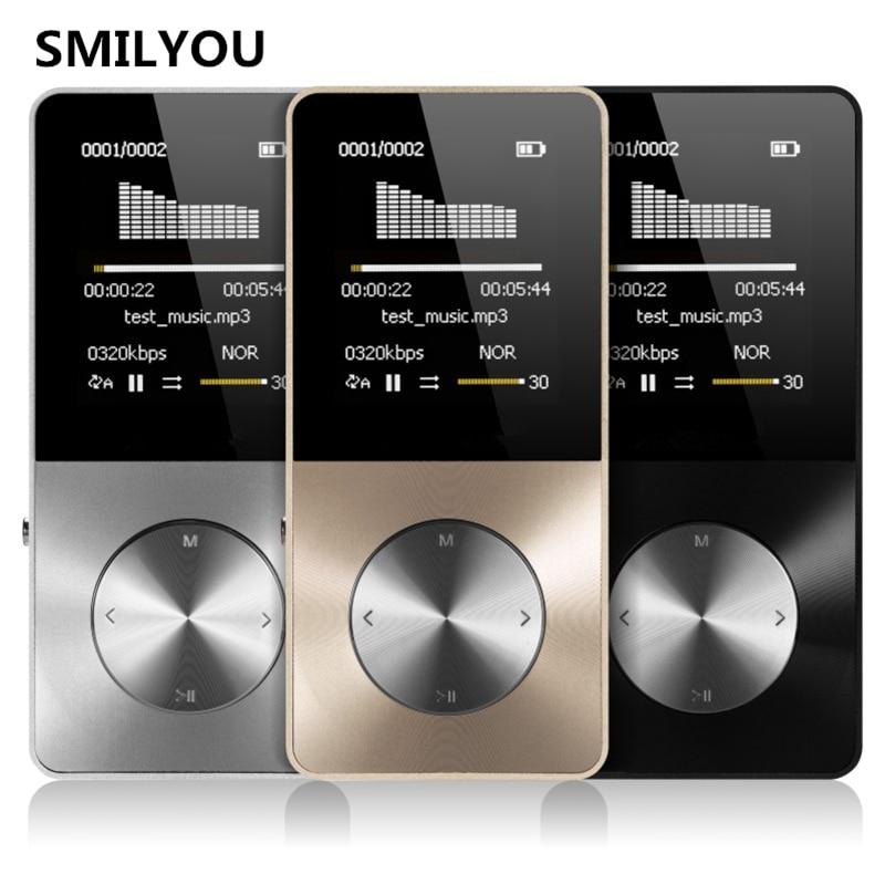 Smilyou HiFi Металл MP4-плееры Встроенный динамик 4 ГБ 8 ГБ 16 ГБ 1.8 дюймов Экран может Поддержка 32 ГБ SD карты с видео сигнал FM Электронная книга