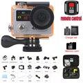 """Dual Screen H8/H8R VR360 câmera de Vídeo ultra 4 K/30fps Controle Remoto Wi-fi 2.0 """"Dual LCD pro Capacete Cam ir à prova d' água câmera"""