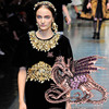Game of Thrones Purple Dragon Brooch Antique Rose Gold Rhinestone Broach Mujer Vintage Large Broches