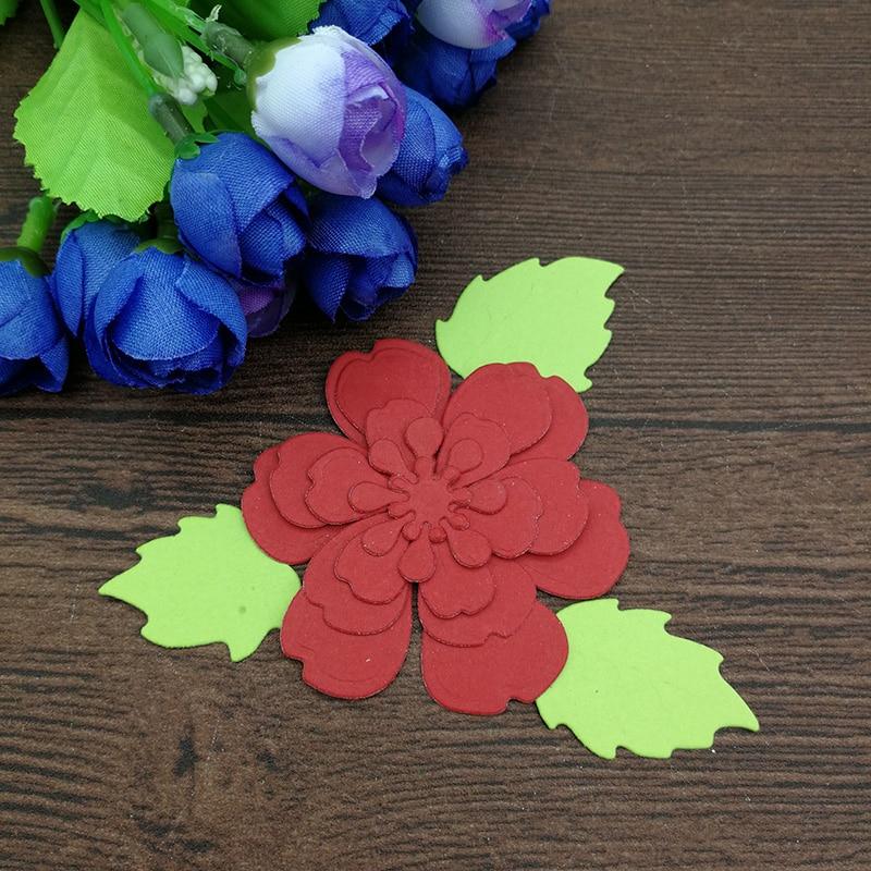8pc Flower Spring Leaf Metal Cutting Dies Stencil Scrapbooking Photo Album Card Paper Embossing Craft Diy #3