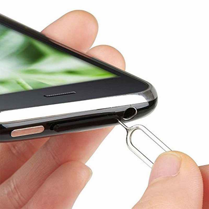 Nyfundas voor iphone 6 sim-kaart tray open eject ejector pin sleutelhanger voor huawei mate 7 samsung galaxy s4 s5 s3 s6 edge note 3 4 5 tool