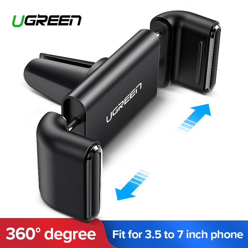Ugreen Universal car phone holder air vent monut GPS stand 360 adjustable mobile phone holder for iPhone 5 6 Plus Samsung S6 HTC 360 degrees