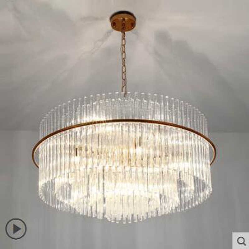Po nowoczesne żyrandol do salonu proste kreatywny Nordic żyrandol płyta willa lampa hotelowa luksusowe lampy kryształowe Lampy LED