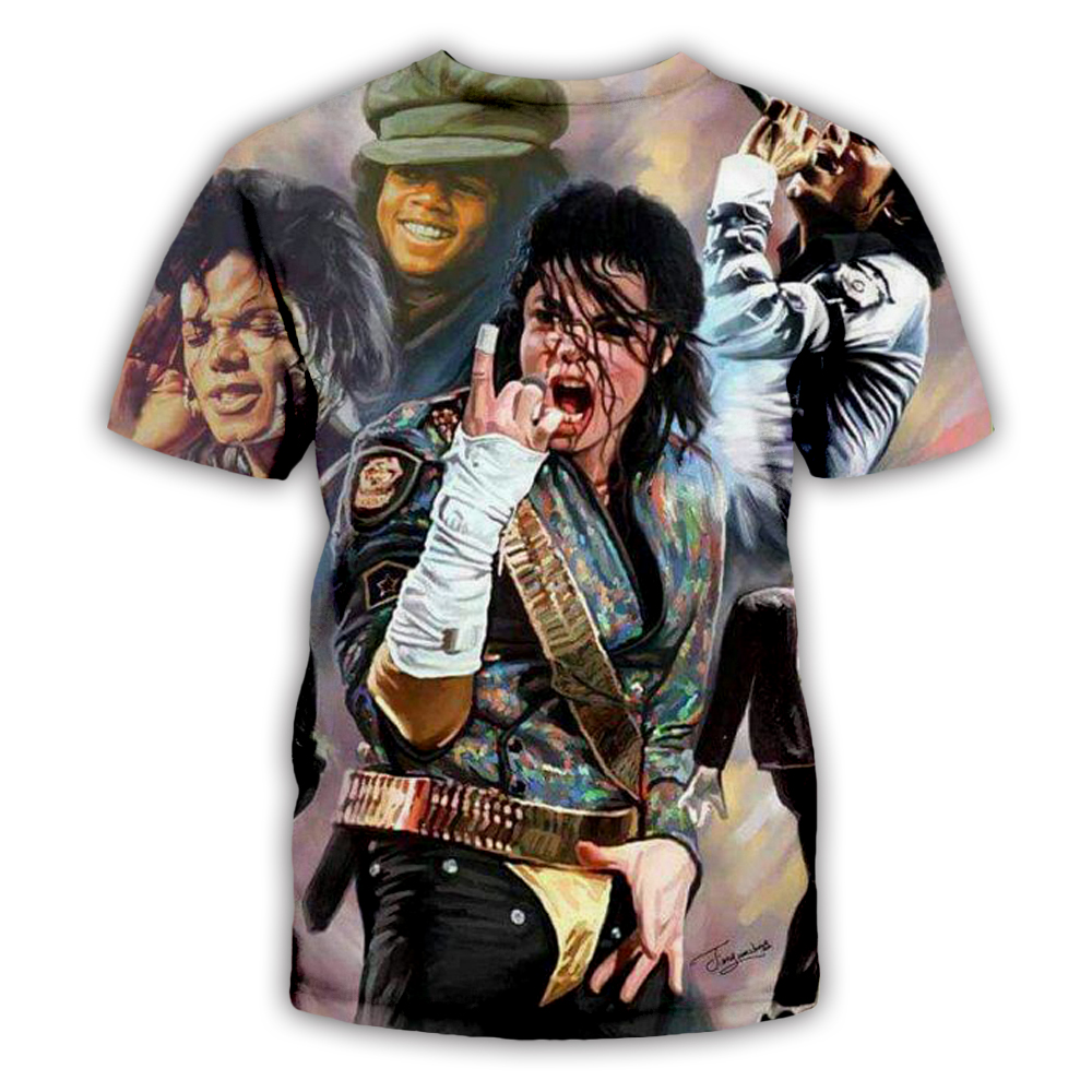 PLstar Cosmos Tee Shirt Homme Michael Jackson T Shirt Men hip hop T-Shirt Mens Shorts Streetwear Halloween shirt XS-7XL
