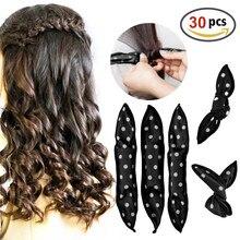 30 Pcs Schwamm Flexible Schaum Haar Curlers DIY Haar Styling Werkzeuge Weiche Schlaf Kissen Haar Rollen Set Magie Haarpflege