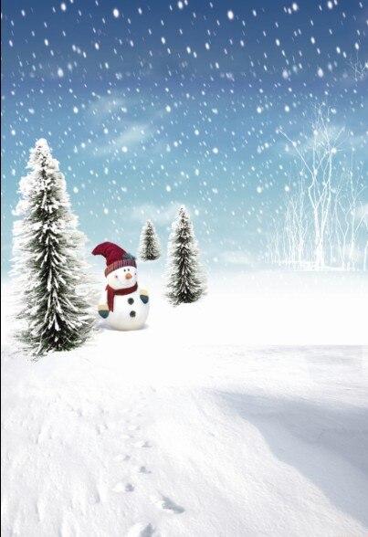 200Cm*150Cm Fundo Hat Snowman Snow3D Baby Photography Backdrop Background Lk 2174 стоимость