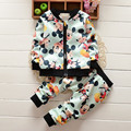 2016Fashion Children Clothing Set Girls Cartoon Minnie Spring Autumn Baby Kids Clothes Sets Boys Long Sleeve Jacket Pants Suits