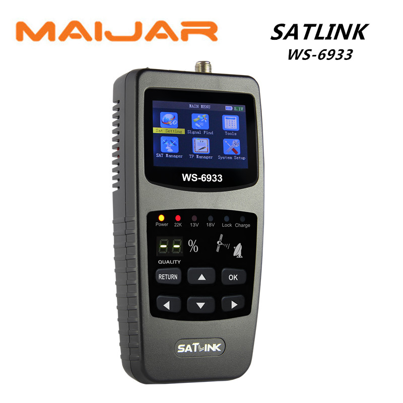 Digital satellite finder meter ws6933 digital terrestrial signal original  satlink  ws-6933 Support DISEQC locking signal original satlink ws 6965 digital satellite meter fully dvb t