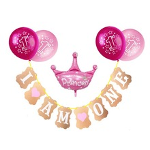1st Birthday Balloon Confetti Balloons Boy Girl I Am One Banner Happy 1 Years Party Decorations Kids Favors Toys Shiny