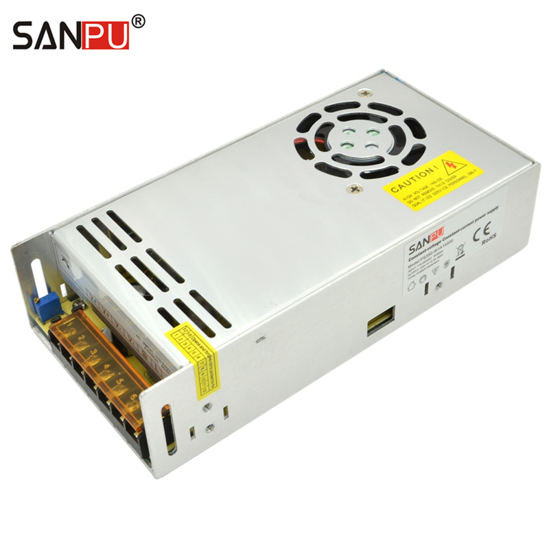 SANPU 24Volt Universal DC Motor <font><b>Power</b></font> <font><b>Supply</b></font> Unit 350W <font><b>24V</b></font> Constant Voltage & Constant Current High Efficiency for 24VDC Motors image
