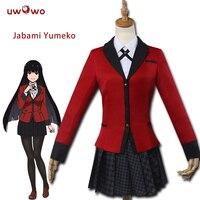 UWOWO Jabami Yumeko Cosplay Kakegurui Red School Uniform Costume Kakegurui Cosplay Jabami Yumeko Costume Women