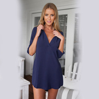 Maternity V Neck Chiffon Blouse Long Sleeve Shirt For Pregnant Women Fashion Loose Women Tops Female