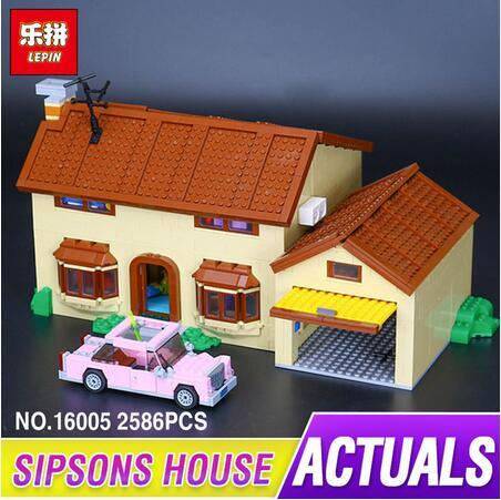 New 2586Pcs Lepin 16005 Simpsons family Kwik-E-Mart Set Building Blocks Bricks Toys 71006 for children birthday gift in stock