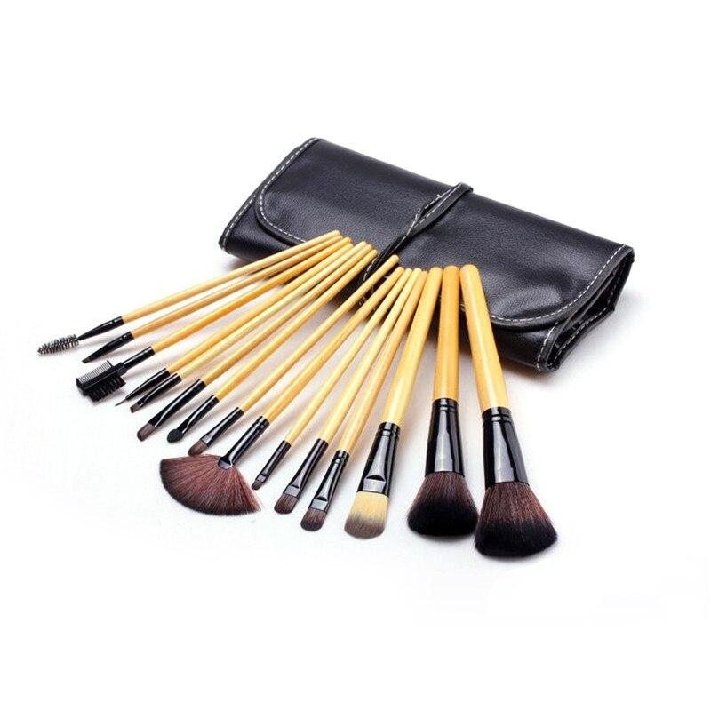 15 PCS Makeup Brushes Set Pincel Maquiagem Professional Make Up Maquillaje Soft Goat Hair Kit Cosmetic