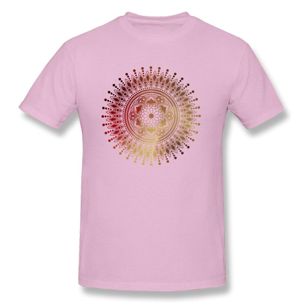 Tees red gold mandala Labor Day Latest Design Short Sleeve Cotton Round Collar Men T-shirts Design T Shirts Free Shipping red gold mandala pink
