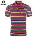 2016 лето мужские поло полоса рубашка марка одежда из хлопка с коротким рукавом свободного покроя мужчины футболки высокое качество Camisa поло Homme M-XXL