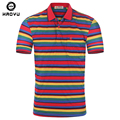 2016 Mens del verano Camisa de rayas Polo ropa de marca de algodón ocasionales de la manga corta t-shirt de la alta calidad Camisa Polo Homme M-XXL