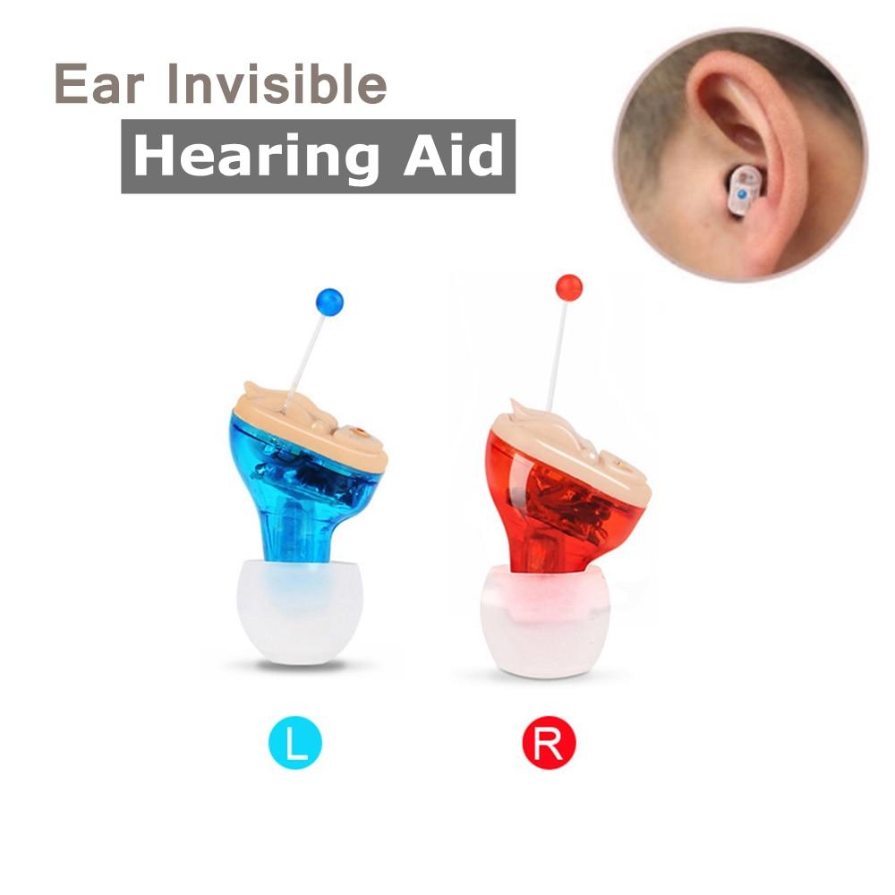 Wireless Digital Pocket Mini Hearing Aids Intelligent Ear Sound Deaf Adjustable Volume Amplifier In ear Invisible Hearing Aid
