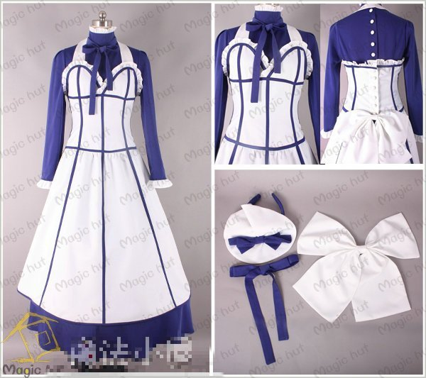 Anime  Black Butler Season 2 Hannah Annafellows Cosplay Costume (free shipping) performance costume CCF0072