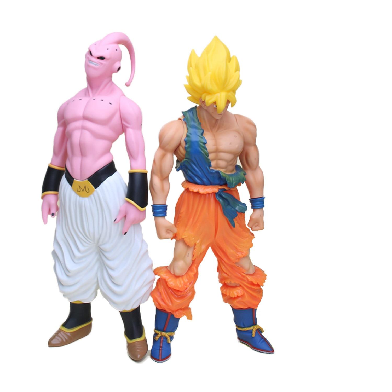 ФОТО Chanycore Anime 44cm Super Big Son Goku Super Saiyan Buu Dragon Ball Z PVC Collection Model Action Figure Toys Dolls