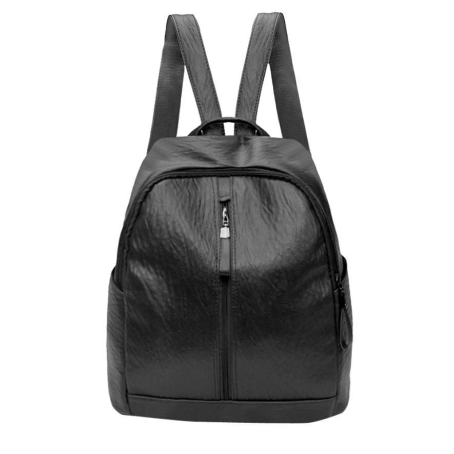 xiniu High Quality PU Leather Backpack Female Pretty Tassel Travel Rucksack School Bags for Women 2018 Female Solid Backpack