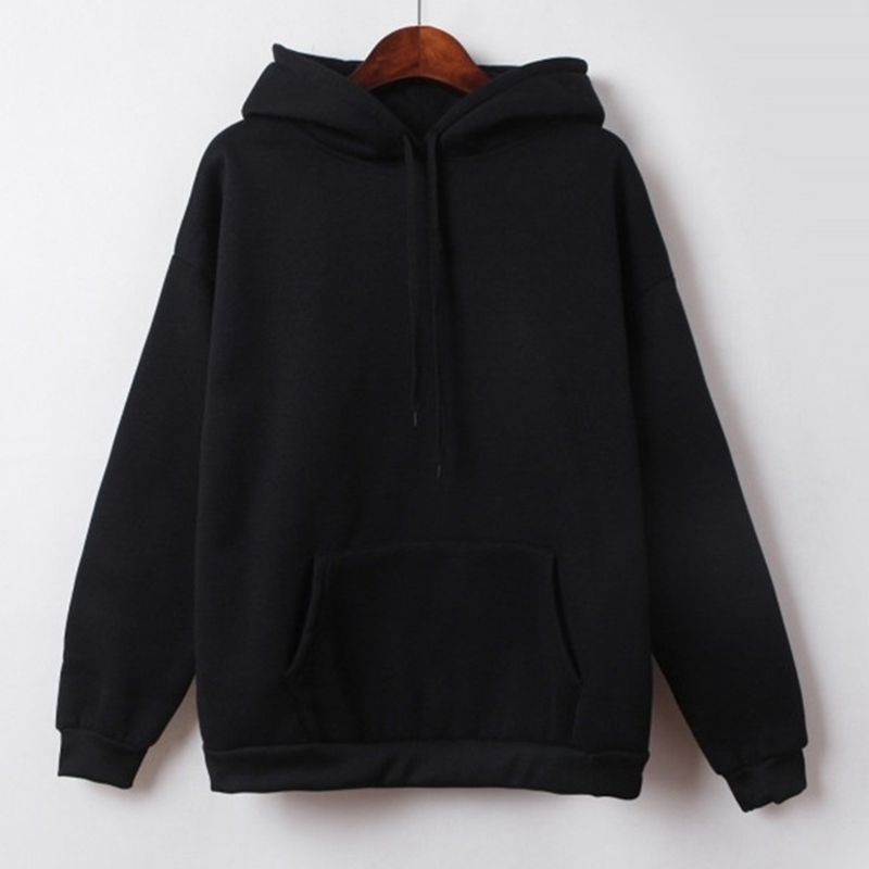 Hooded Tops Women's Sweatshirt Long-Sleeved Winter Velvet Thickening Coat 3