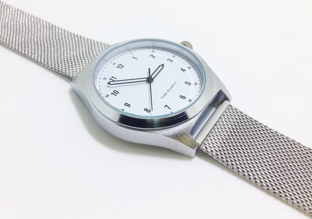 Women's Watches Silver Case Steel Straps Quartz Movement Simple Window Face Drop Ship no Logo name no name 10