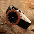 2017 bobo bird marca relojes de las mujeres a prueba de agua relojes regalos de madera natural de madera de color rojo relojes de cuarzo relogio feminino c-j01