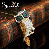 Special Owl Necklaces Pendant Free Shipping Enamel Owl S925 Silver Necklaces Gift XL141107